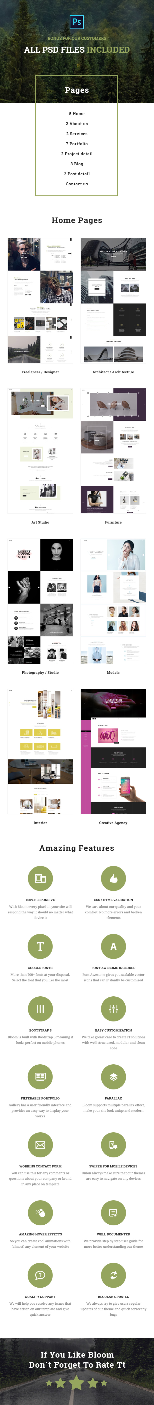 Bloom - One & Multi Page Business HTML Template - 1