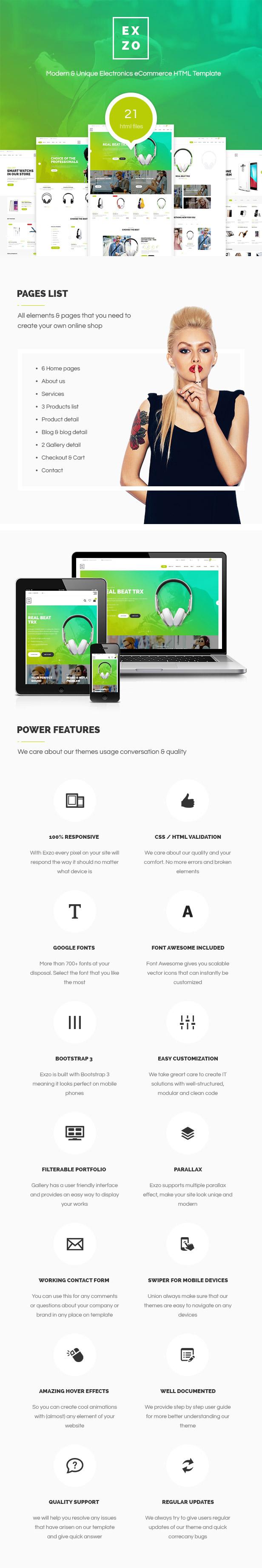 Exzo - Modern & Unique Electronics eCommerce HTML Template - 1